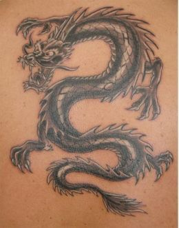 earth dragon tattoo design