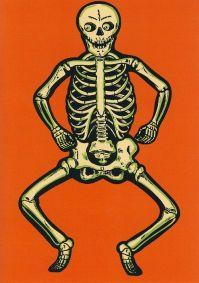 Vintage paper skeleton decoration.