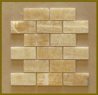 honey onyx subway tile