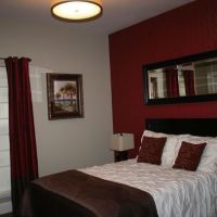Bedroom Paint Ideas Accent Wall Red