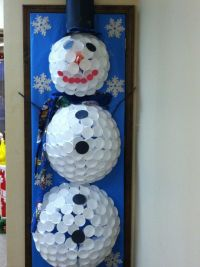 Styrofoam snowman door decorating contest. | Door ...