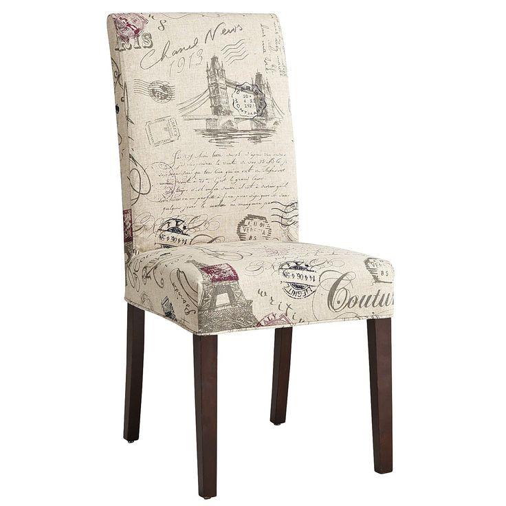 Dana Slipcover  Script Dining Chair  DINING ROOM DELIGHT