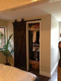Barn wood closet door | Walk In | Walk Out | Pinterest