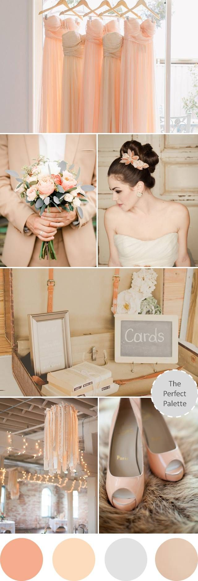 Pretty Peachy | A Palette of Peach, Gray and Beige - to see more: http://www.theperfectpalette.com/2014/02/pretty-peachy-palette-of-peach-gray-and.html