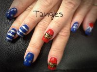 Wonder Woman nail art | Nails | Pinterest