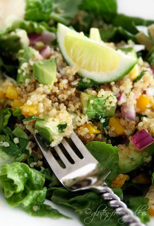 Quinoa taco salad- vegan and gluten-free...