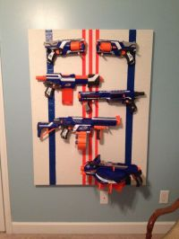 Nerf gun rack! | I Loves It | Pinterest