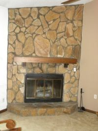 Update 1970's fireplace stones | For the Home | Pinterest