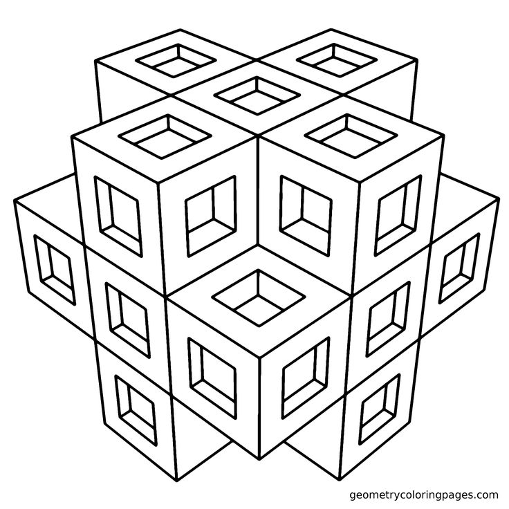 Geometry Coloring Sheets Free Coloring Pages