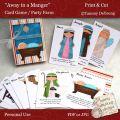 Card game nativity printable party favor digital gift box kids