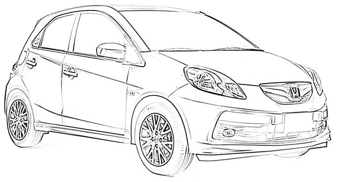 honda s2000 coloring pages