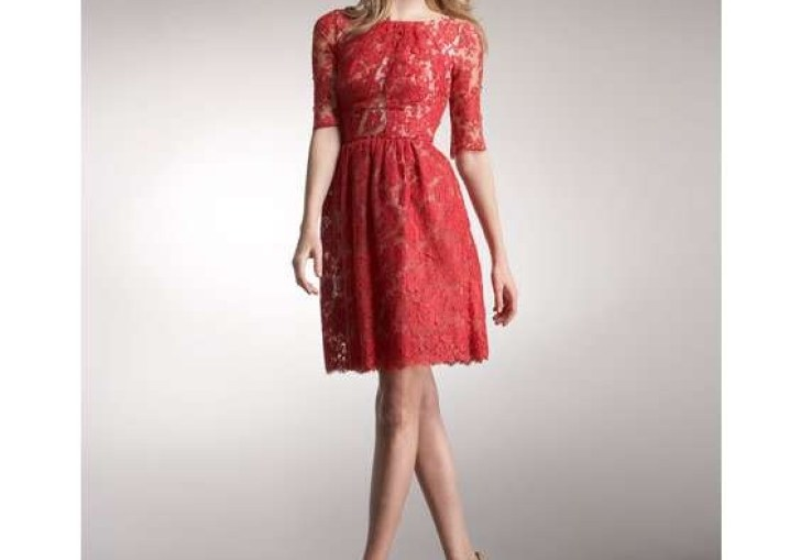 Red Dress With Lace