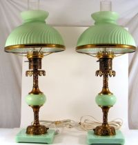 Two Victorian Table Lamps. | Vintage Lamp | Pinterest