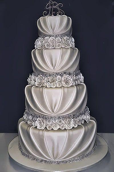 Southern Blue Celebrations Silver Wedding Cake Ideas