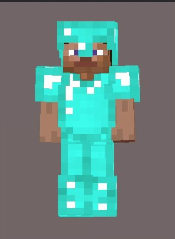 Minecraft Diamond Armor Steve!