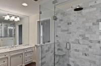carrera marble tile, master bath