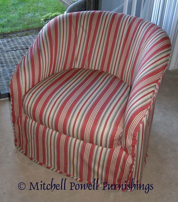 Slipcover for Barrel Chair  DIY  Pinterest