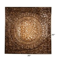 Large tuscan embossed metal ceiling-tile design wall decor ...