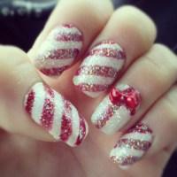 Peppermint nail design | Nail Art | Pinterest