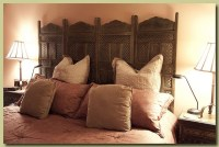 Room divider as headboard   For the Home   Pinterest