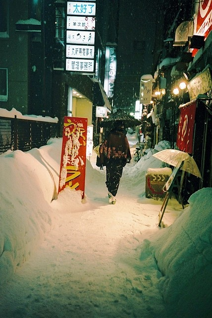 japan snow streets ----------- #japan #japanese