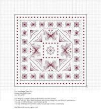free chart - biscornu | Hardanger embroidery | Pinterest