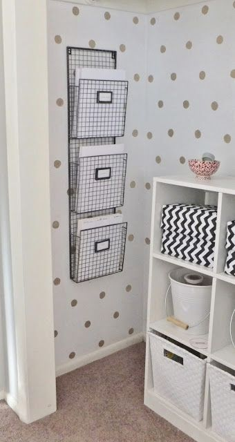 DIY Gold Dot Closet Wallby House For Five