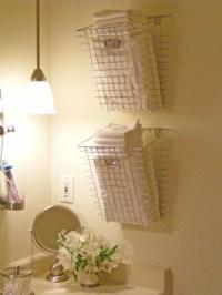 Unique bathroom storage | Let's Get Organized! | Pinterest