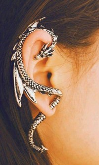 Dragon earring cuff.