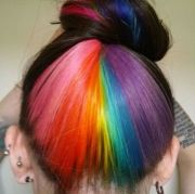 peek-boo rainbow hair rapunzel