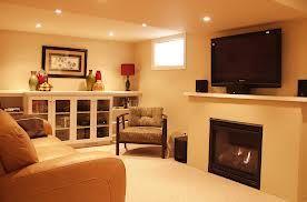 Basement idea with a fireplace!