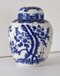 RESERVED for Katie---Vintage Blue and White Ginger Jar