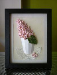 "HandMade Quilling Paper Atrwork Wall Art ""Sunny Lilac ..."