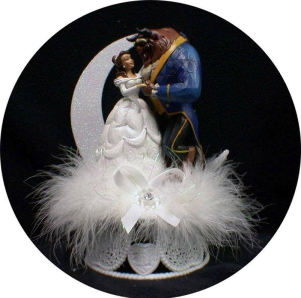 Image result for beauty and the beast cake topper