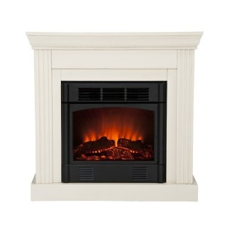 CORNER FIREPLACES ELECTRIC FIREPLACE CLEARANCE IVORY CORNER