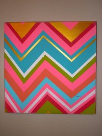 Rainbow chevron wall decor | chevron ideas | Pinterest