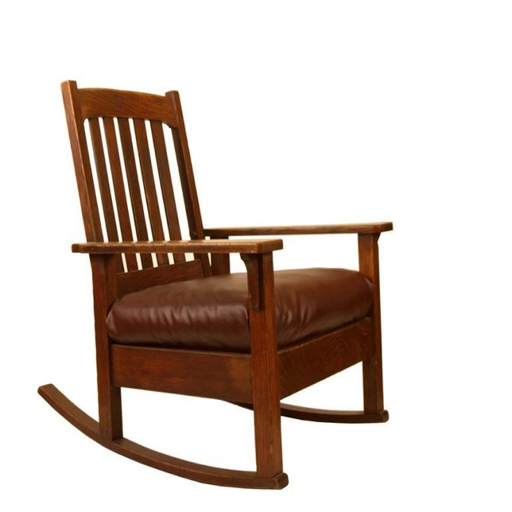 Mission style oak rocking chair  Lake Living  Pinterest
