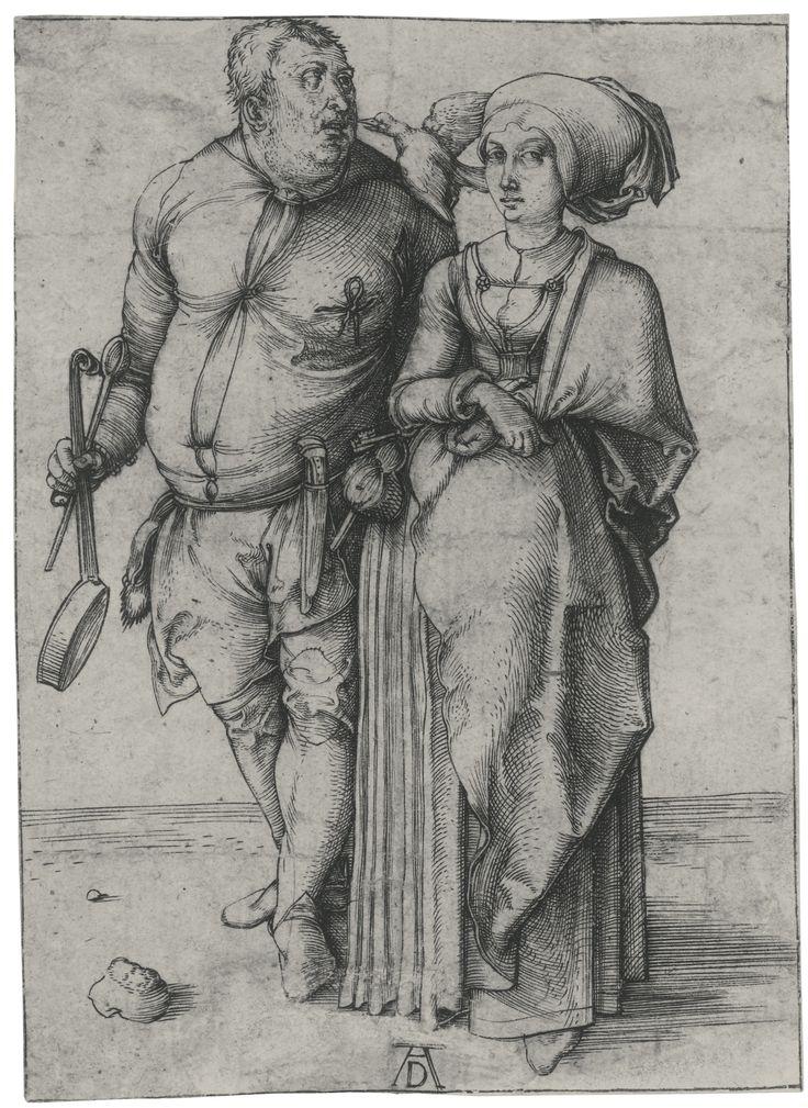 Albrecht Dürer (1471 – 1528, The cook and his wife (BARTSCH 84; Meder, Hollstein 85)