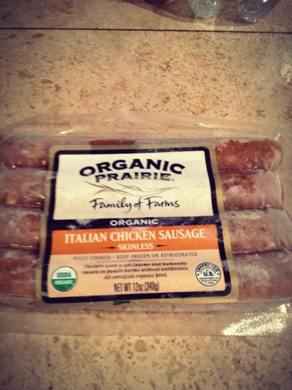Organic Chicken Sausage Healthy Choice Food Ideas