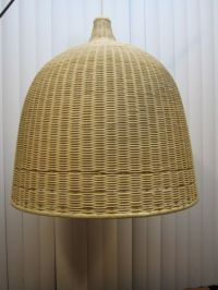 Large 24 wicker basket pendant light fixture hanging IKEA ...