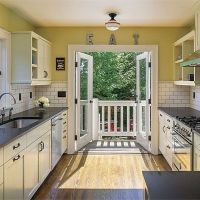 french door kitchen | Shipping Container Homes | Pinterest