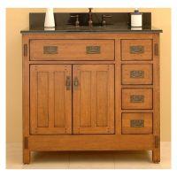 craftsman style bathroom cabinets   Craftsman Bath   Pinterest