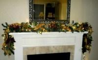 Fireplace mantel #garland | Christmas Decorations | Pinterest