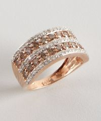 Rose Gold Rings: Rose Gold Rings With Chocolate Diamonds