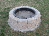 lowes fire pit kit - weekend project #1
