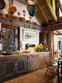Rustic kitchen with vaulted ceiling   Houses & Home Decor ...