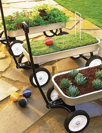Wagon Planter, Creative Planters