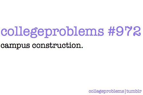 College Problem #972: Or in my case, Chicago construction. Which goes on during the night even if you have exams. Ugh.