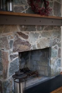 Fireplace wood mantel with metal | Architectural Details ...