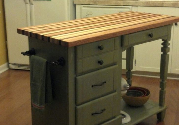 Kitchen Island From Old Table